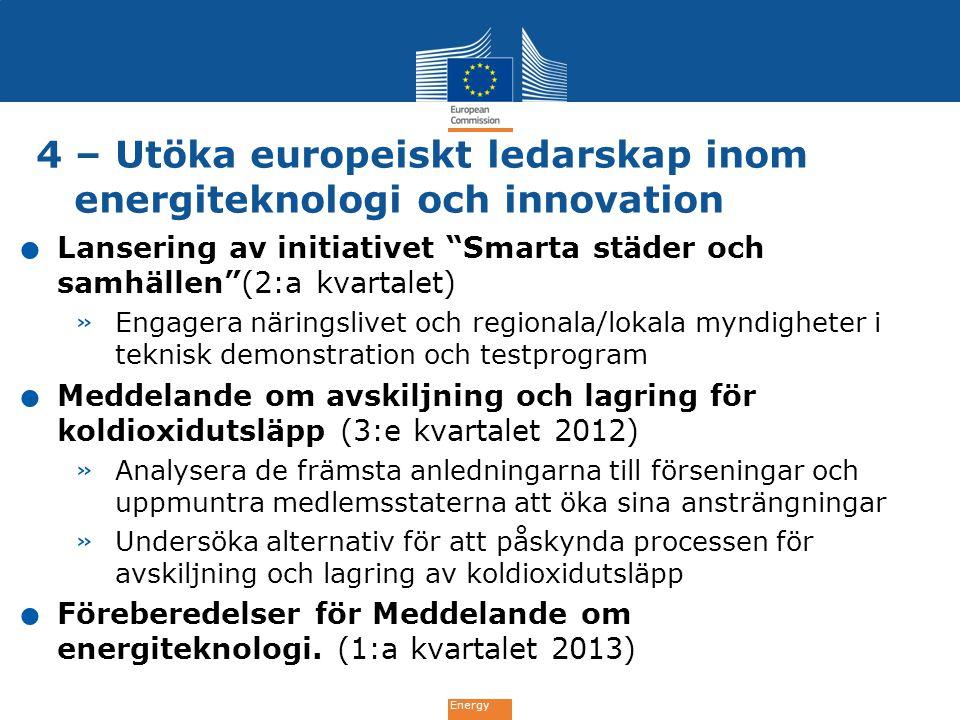 4 – Utöka europeiskt ledarskap inom energiteknologi och innovation