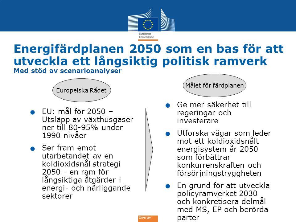 Energifärdplanen 2050 som en bas för att utveckla ett långsiktig politisk ramverk