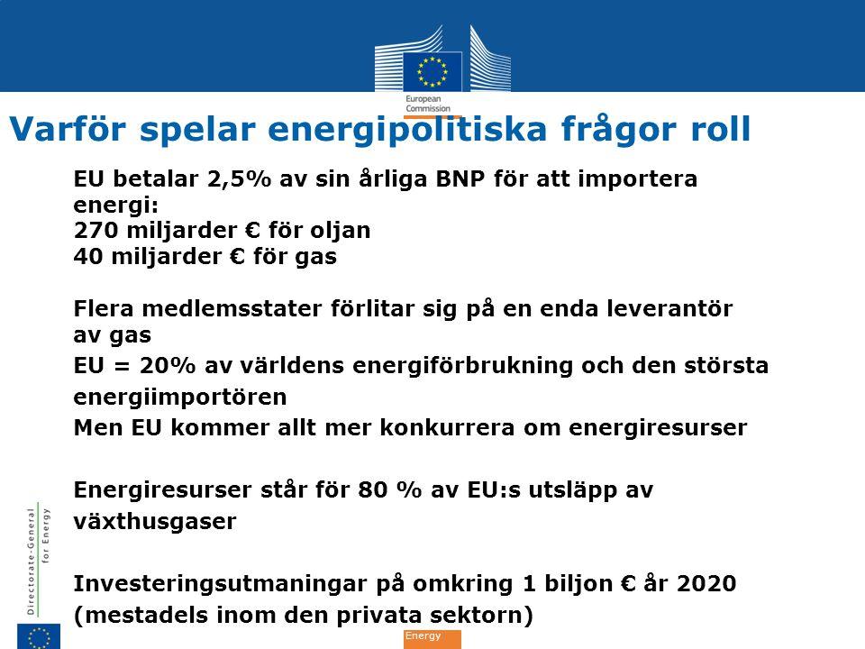 Varför spelar energipolitiska frågor roll