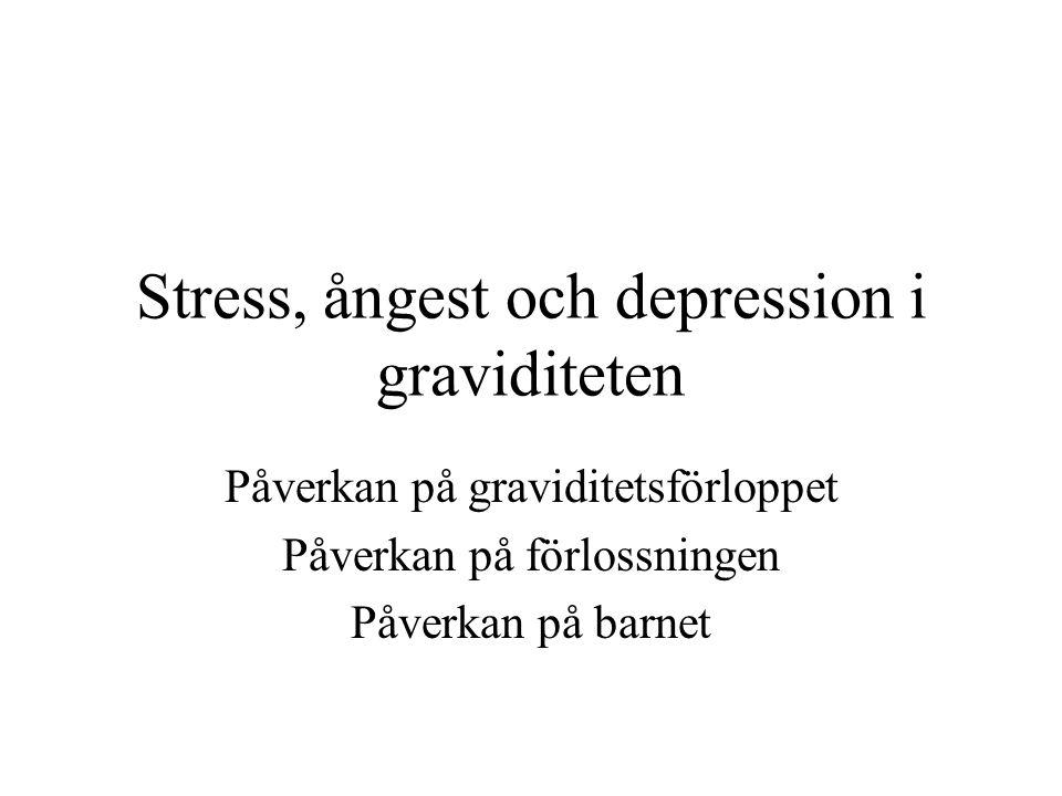 Stress, ångest och depression i graviditeten
