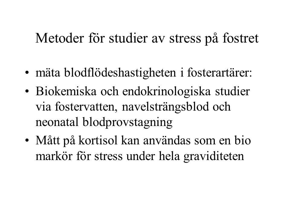 Metoder för studier av stress på fostret