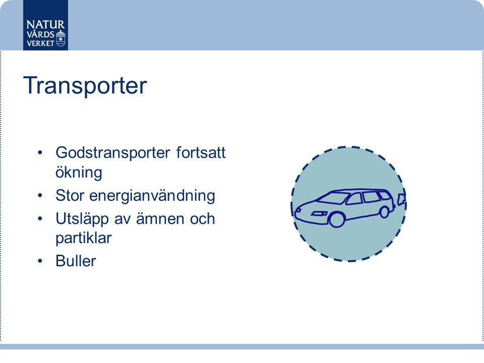 Transporter Godstransporter fortsatt ökning Stor energianvändning