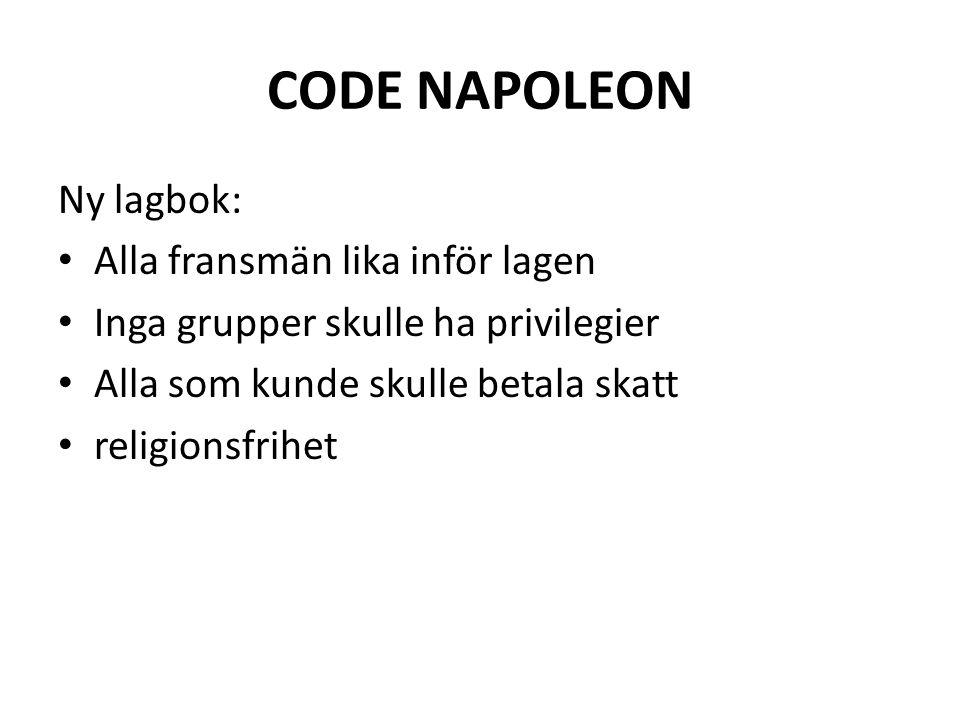 CODE NAPOLEON Ny lagbok: Alla fransmän lika inför lagen