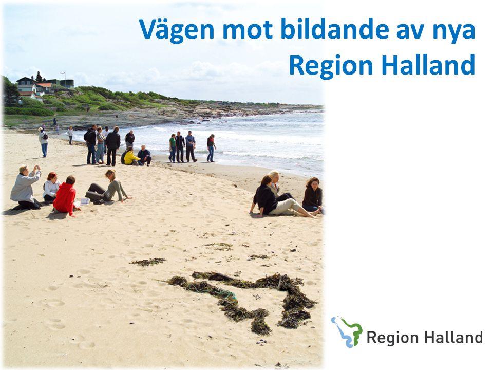 Vägen mot bildande av nya Region Halland