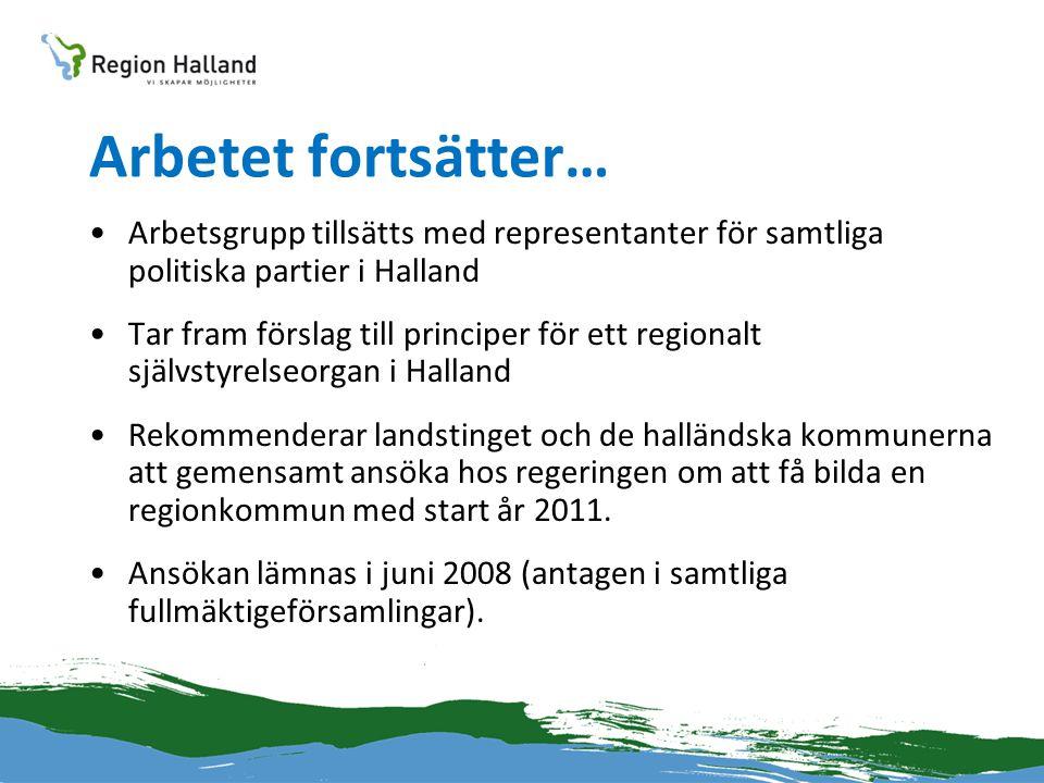 Arbetet fortsätter… Arbetsgrupp tillsätts med representanter för samtliga politiska partier i Halland.