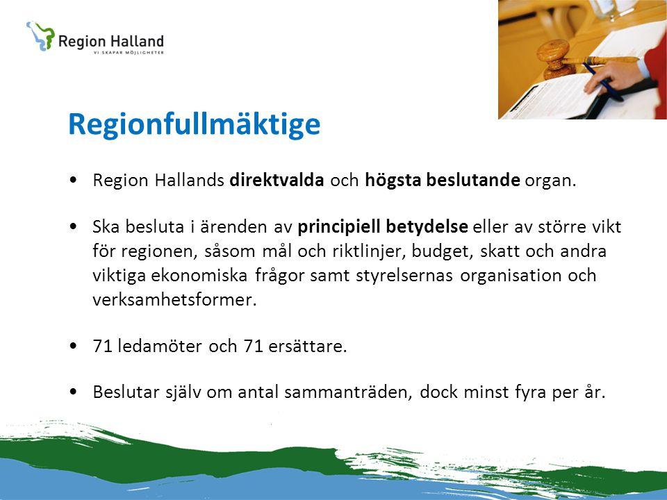 Regionfullmäktige Region Hallands direktvalda och högsta beslutande organ.