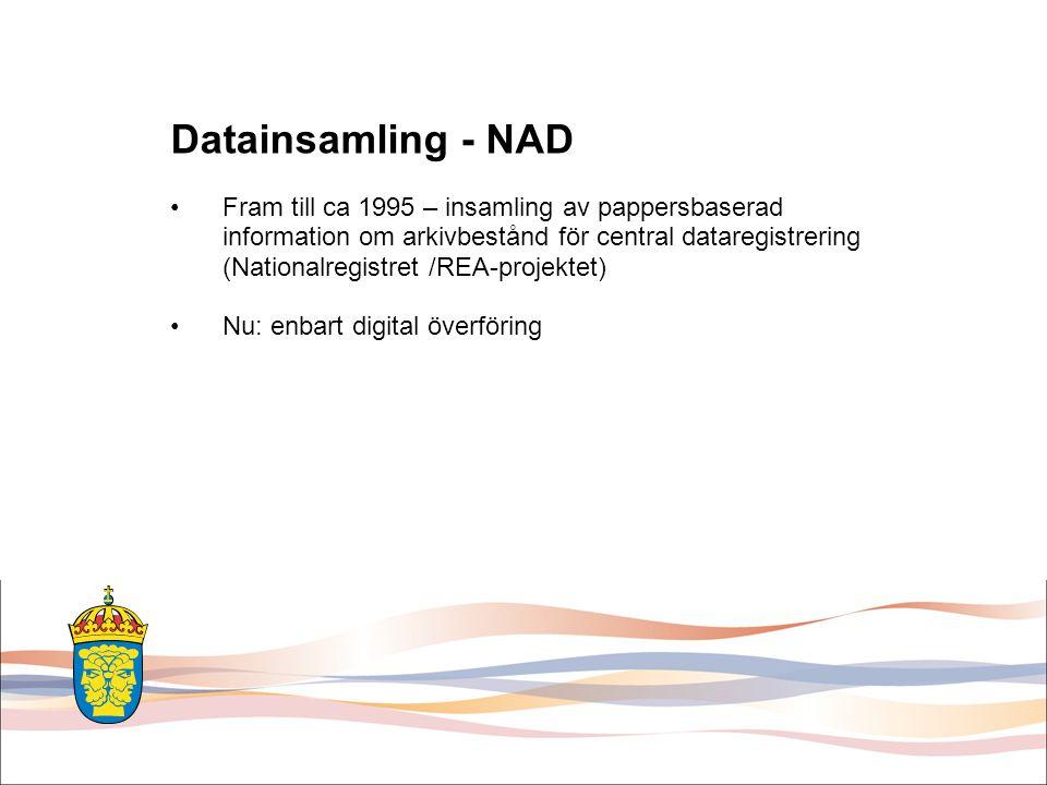 Datainsamling - NAD