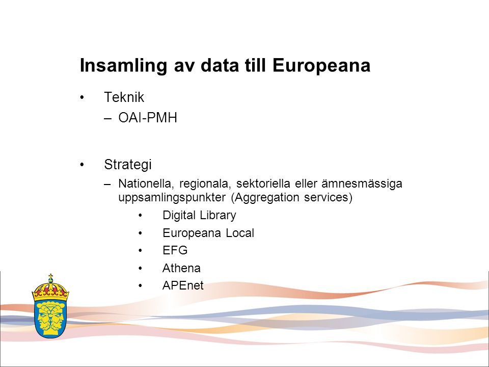 Insamling av data till Europeana