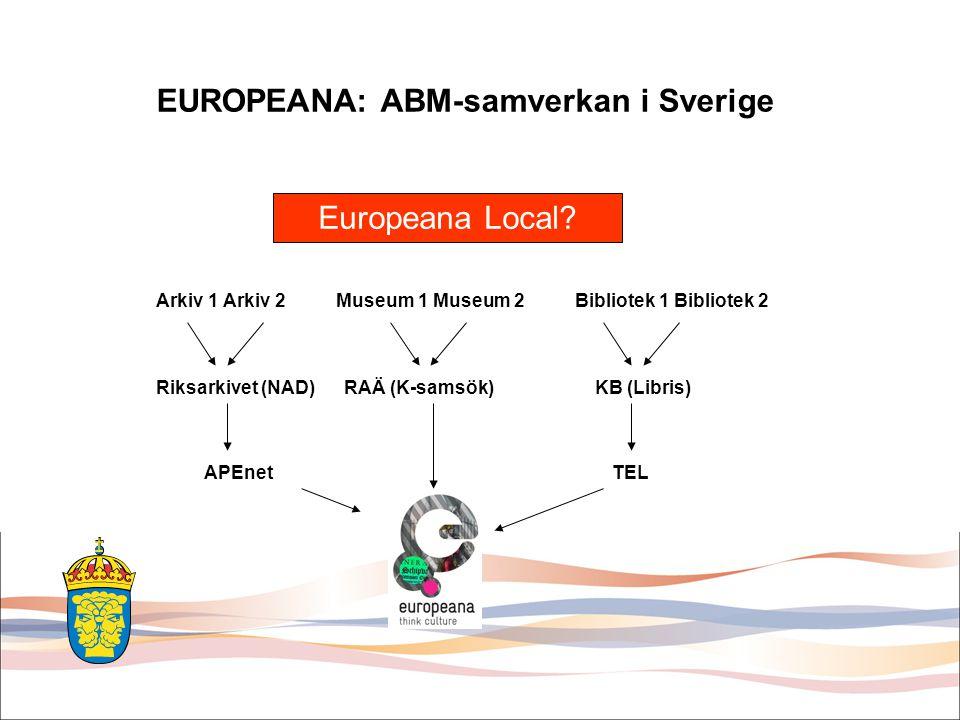 EUROPEANA: ABM-samverkan i Sverige