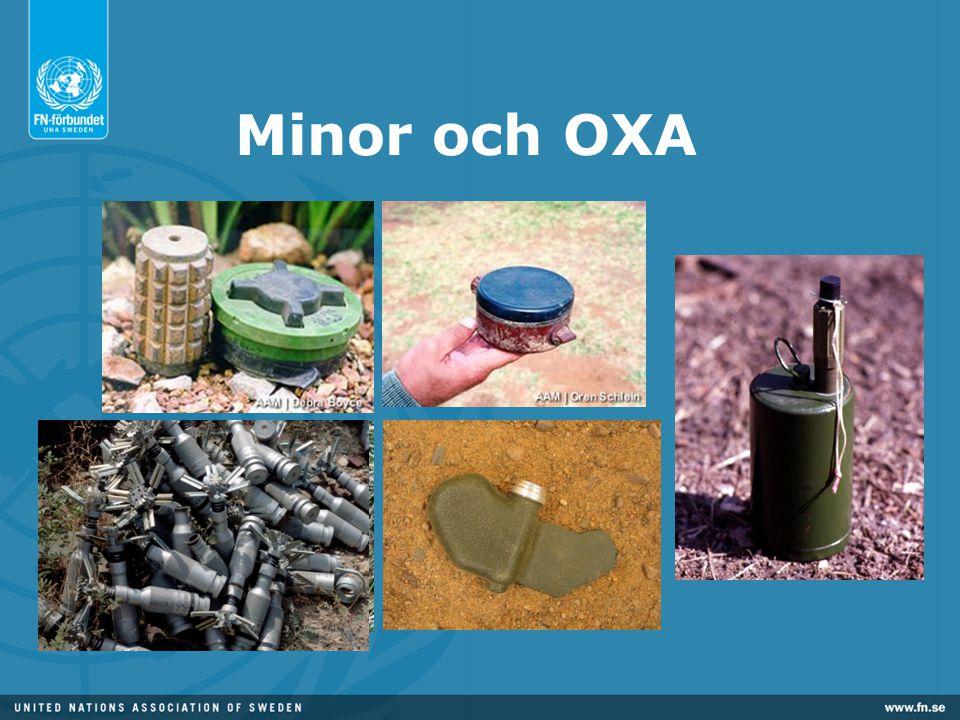 Minor och OXA Finns väldigt många typer av minor.