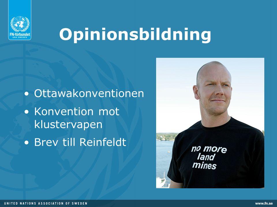Opinionsbildning Ottawakonventionen Konvention mot klustervapen