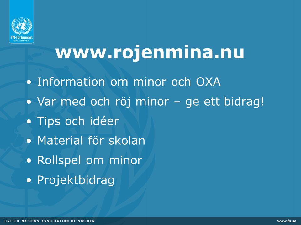 www.rojenmina.nu Information om minor och OXA