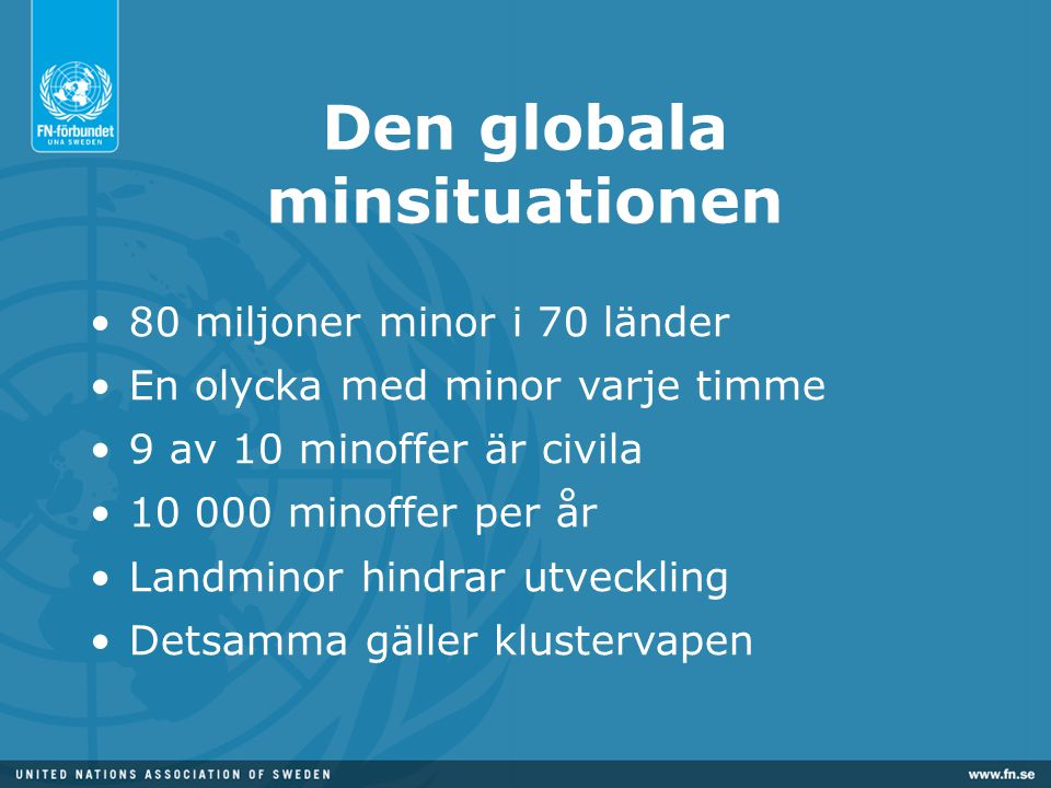 Den globala minsituationen
