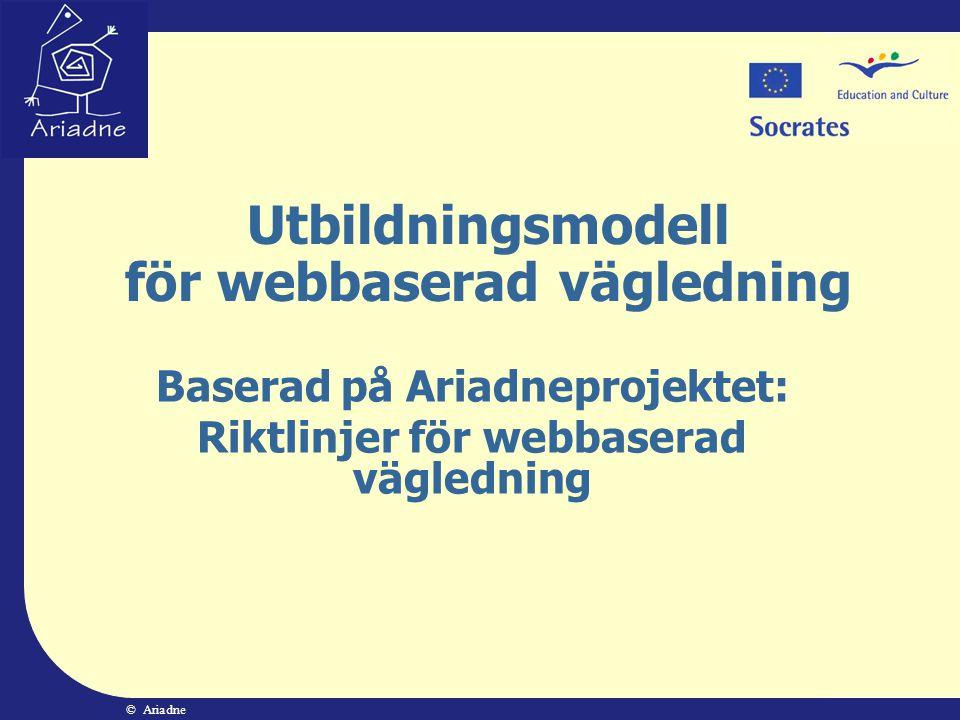 Utbildningsmodell för webbaserad vägledning