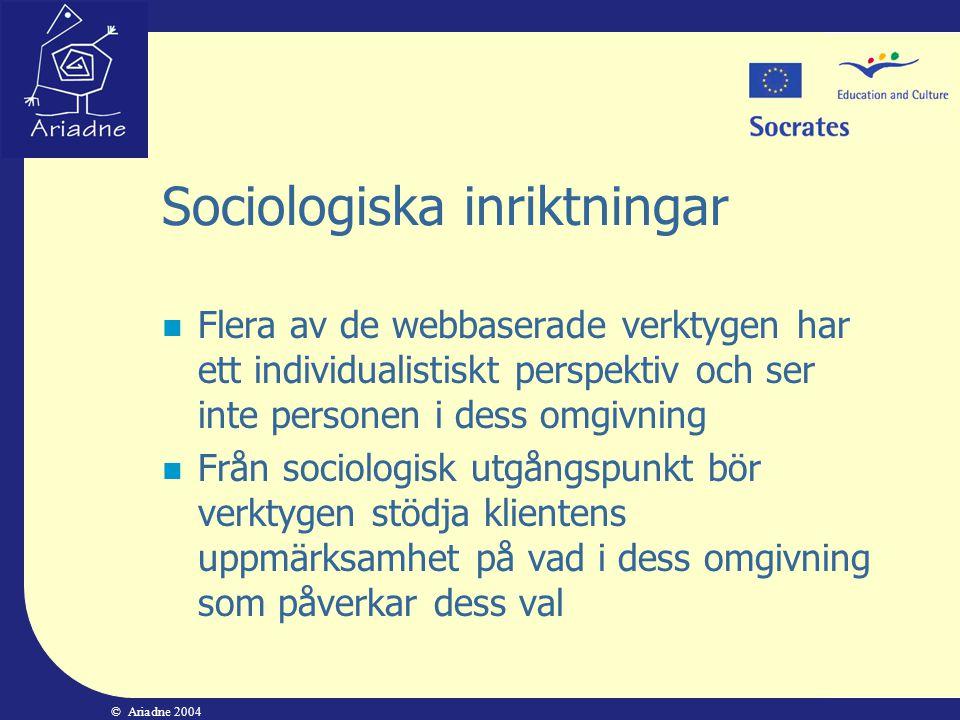 Sociologiska inriktningar