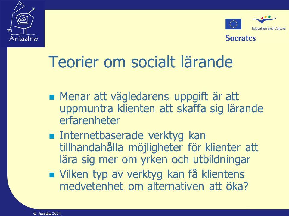 Teorier om socialt lärande