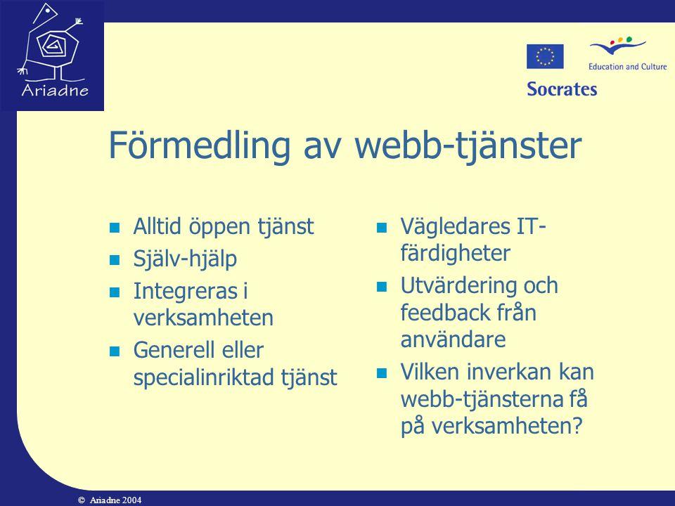 Förmedling av webb-tjänster