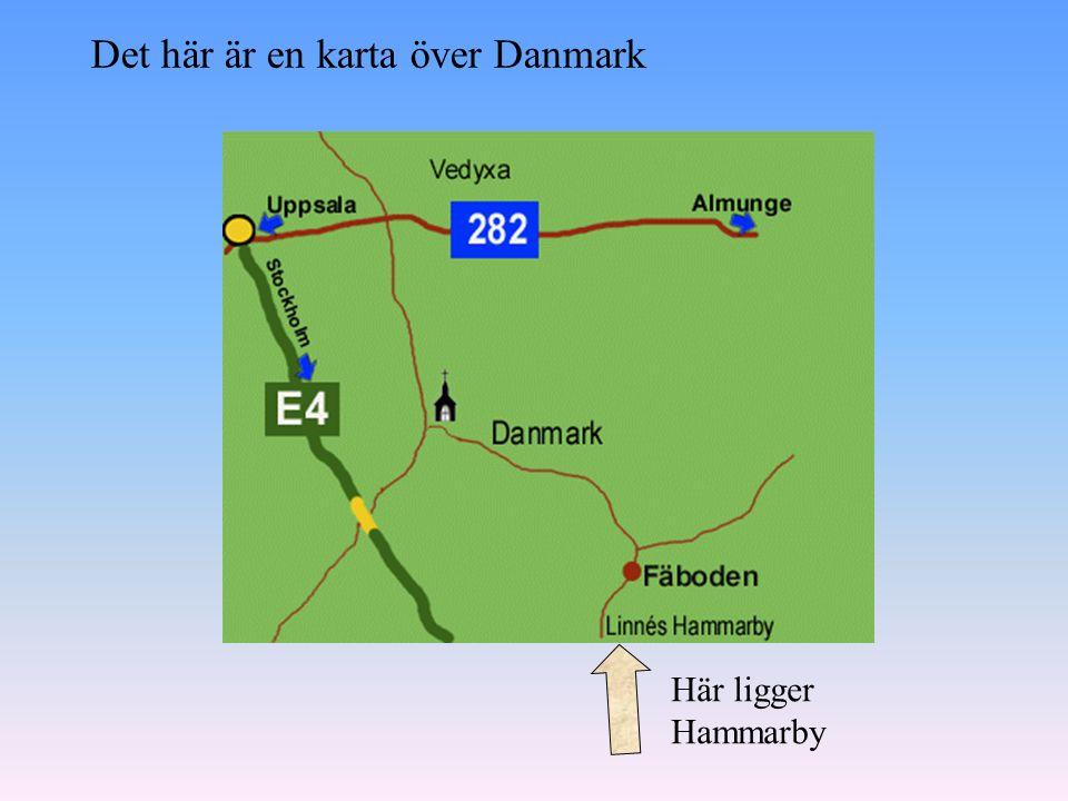 Det här är en karta över Danmark