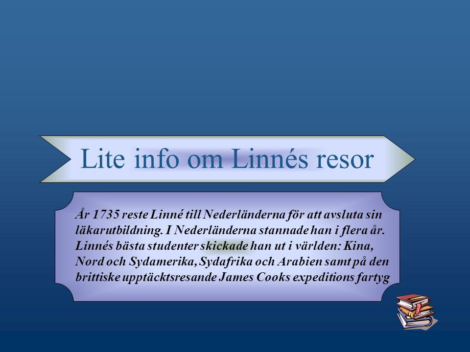 Lite info om Linnés resor