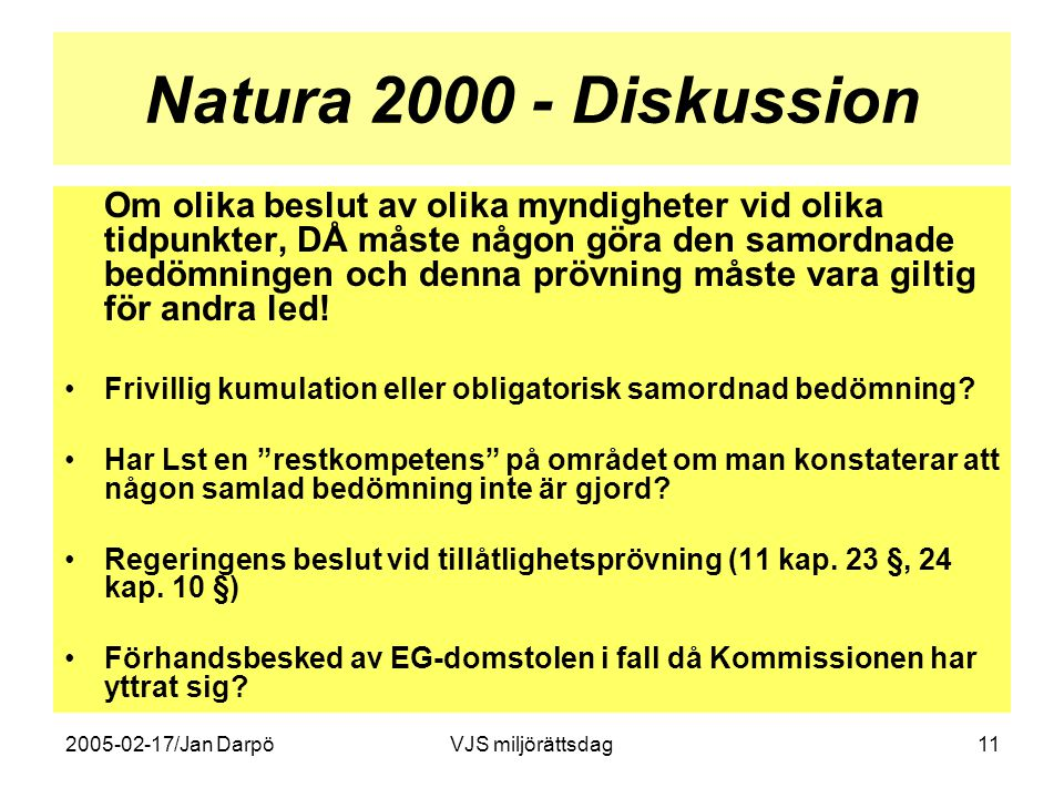 Natura 2000 - Diskussion