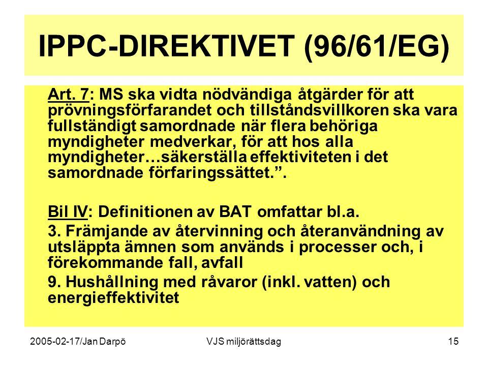 IPPC-DIREKTIVET (96/61/EG)