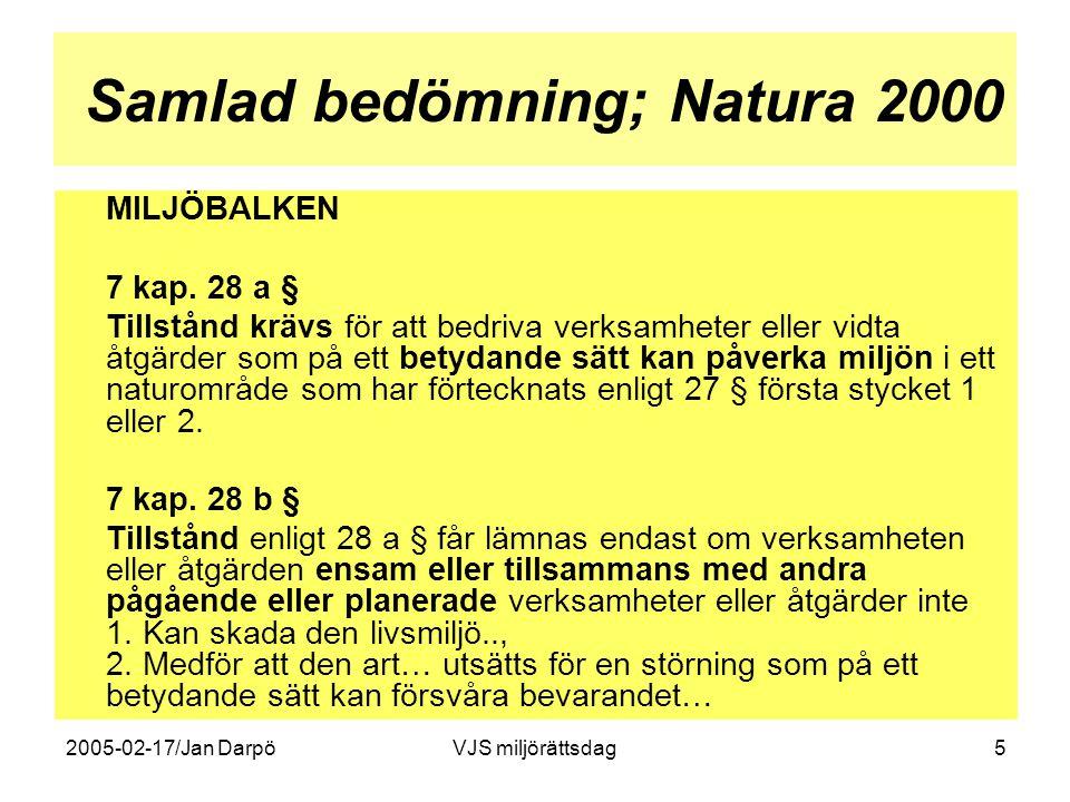 Samlad bedömning; Natura 2000