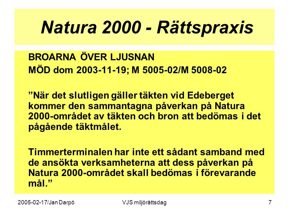 Natura 2000 - Rättspraxis BROARNA ÖVER LJUSNAN