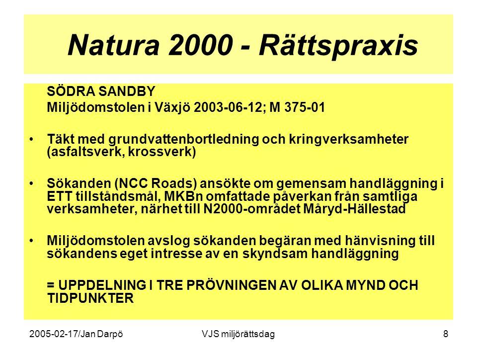 Natura 2000 - Rättspraxis SÖDRA SANDBY