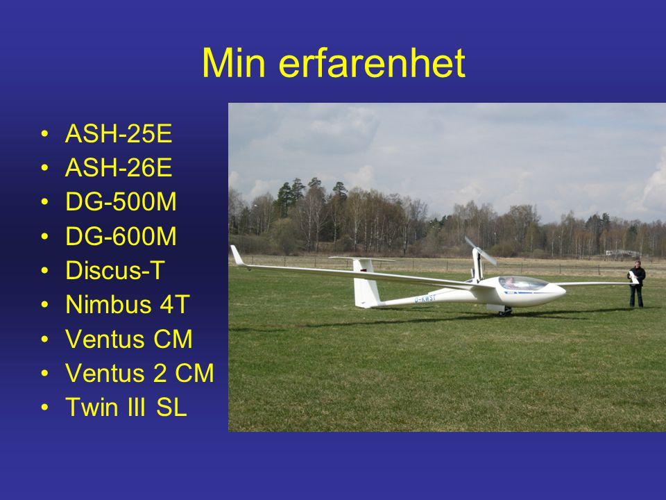 Min erfarenhet ASH-25E ASH-26E DG-500M DG-600M Discus-T Nimbus 4T
