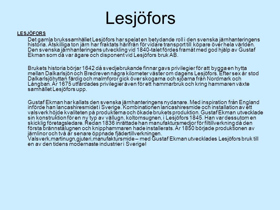 Lesjöfors LESJÖFORS.