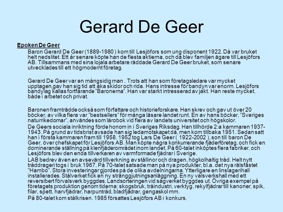 Gerard De Geer Epoken De Geer