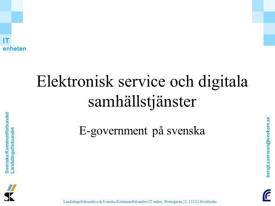 Elektronisk service och digitala samhällstjänster