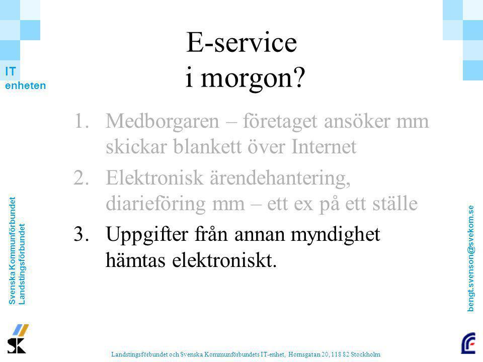 E-service i morgon Medborgaren – företaget ansöker mm skickar blankett över Internet.