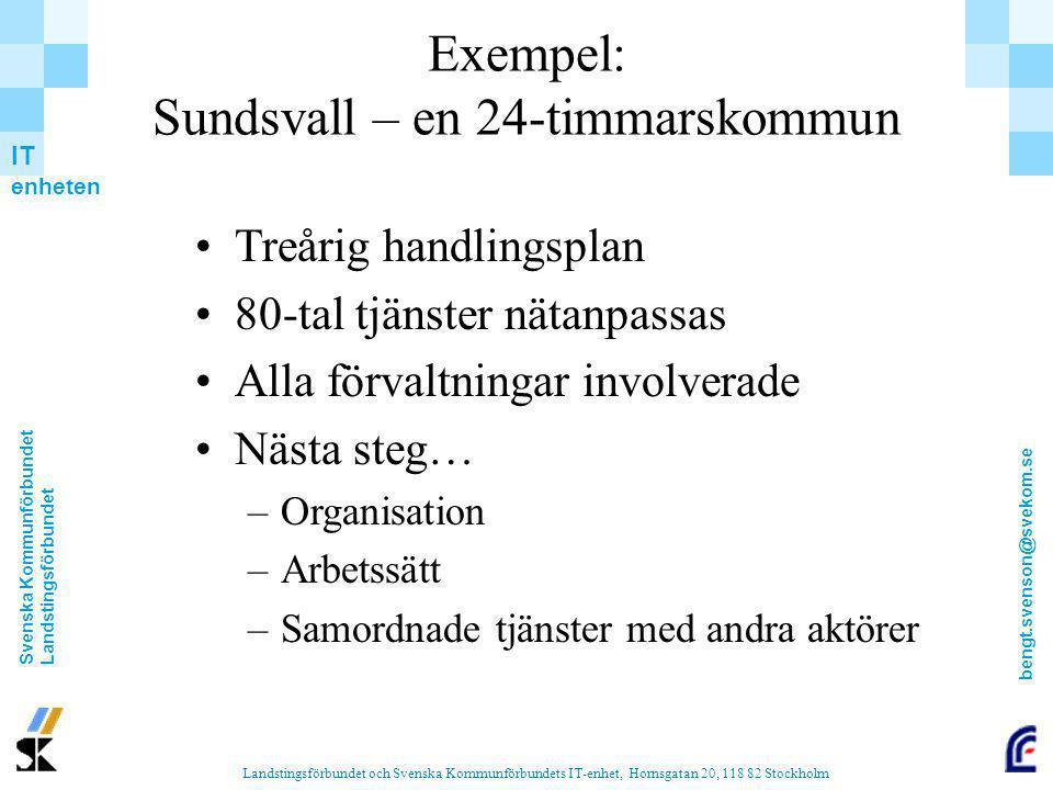Exempel: Sundsvall – en 24-timmarskommun
