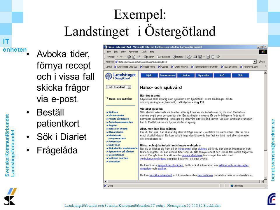Exempel: Landstinget i Östergötland