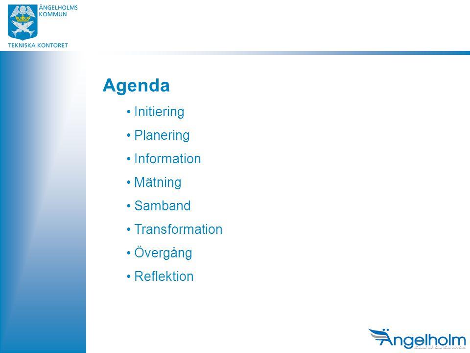 Agenda Initiering Planering Information Mätning Samband Transformation