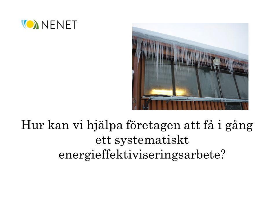 Hur kan vi hjälpa företagen att få i gång ett systematiskt energieffektiviseringsarbete