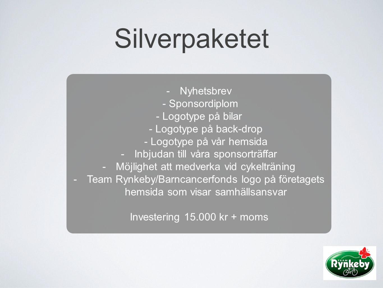 Silverpaketet Nyhetsbrev - Sponsordiplom