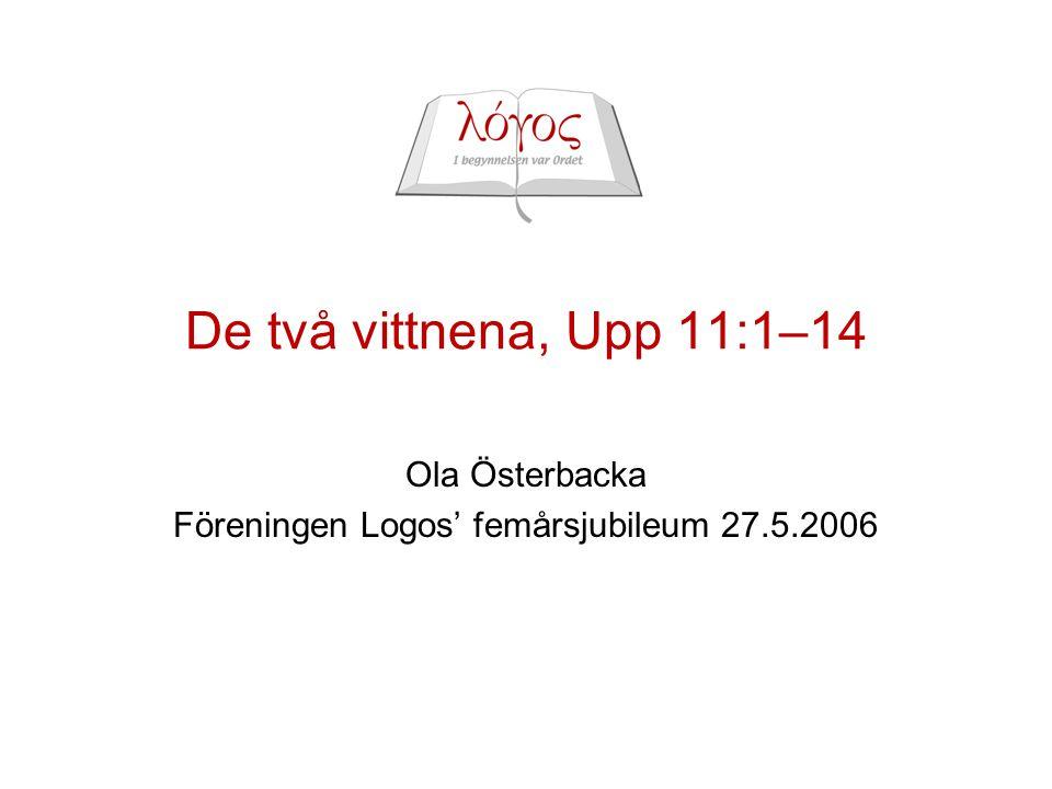 Ola Österbacka Föreningen Logos' femårsjubileum 27.5.2006