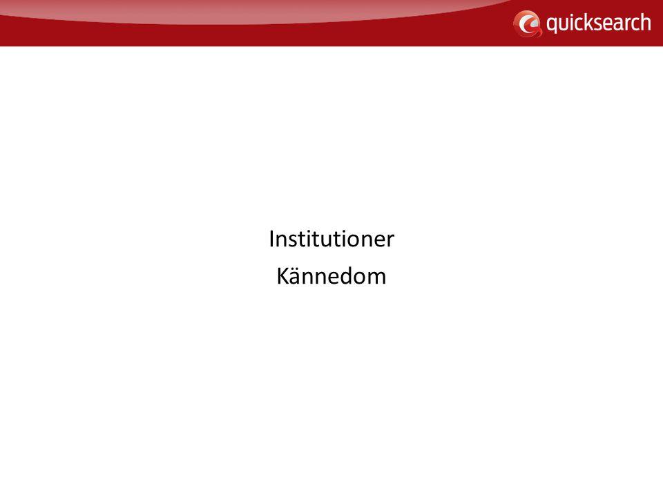 Institutioner Kännedom
