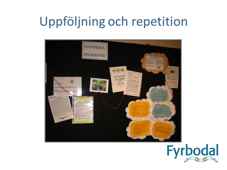 Uppföljning och repetition