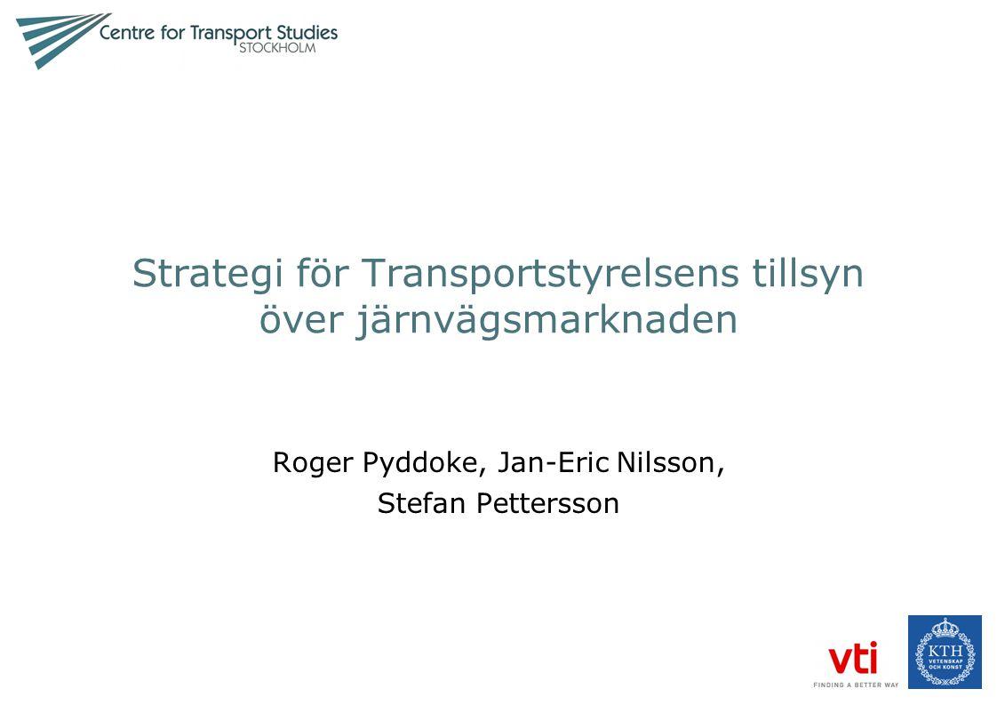 Strategi för Transportstyrelsens tillsyn över järnvägsmarknaden