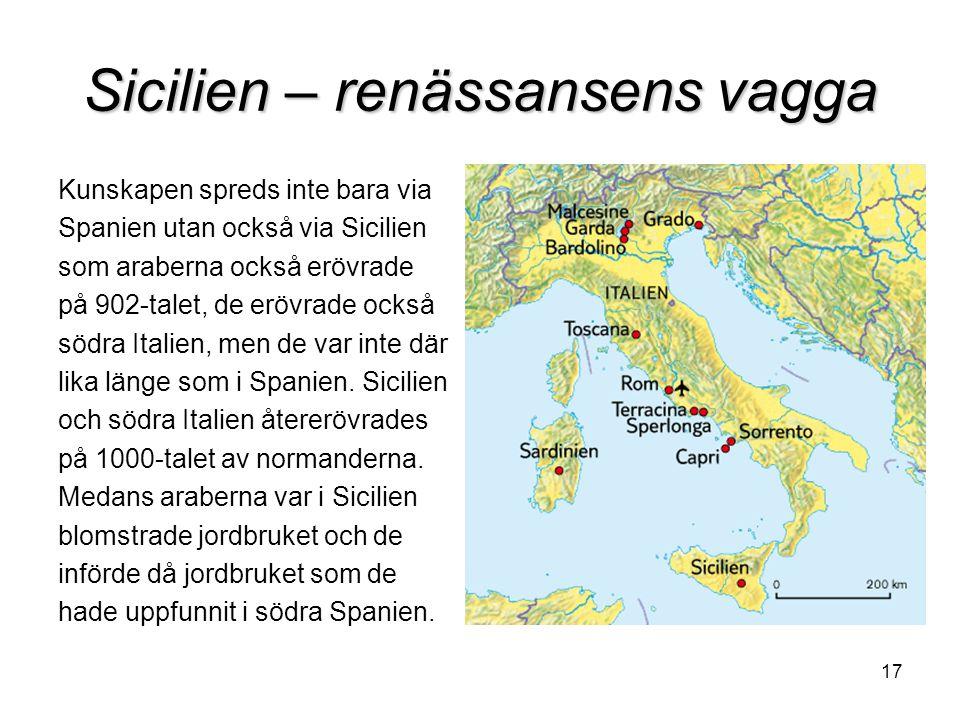 Sicilien – renässansens vagga