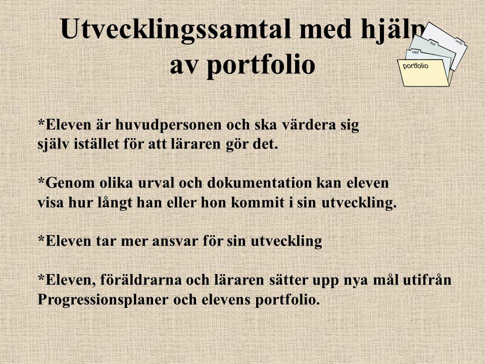 Utvecklingssamtal med hjälp av portfolio