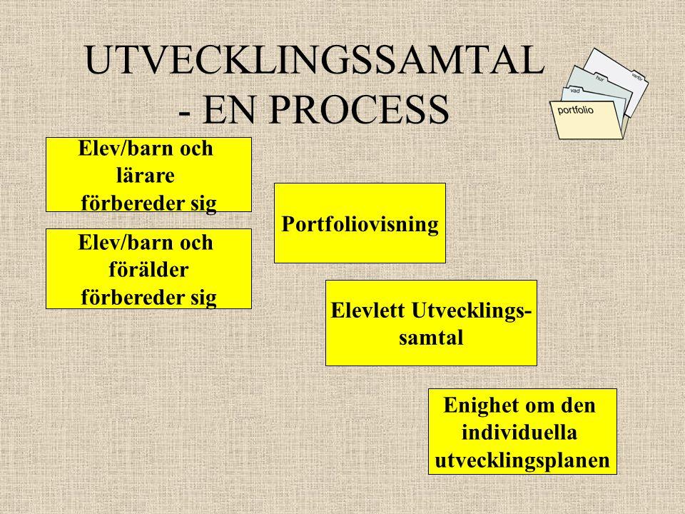 UTVECKLINGSSAMTAL - EN PROCESS