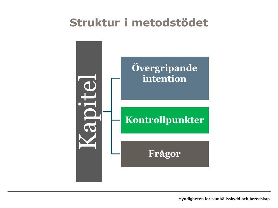 Struktur i metodstödet
