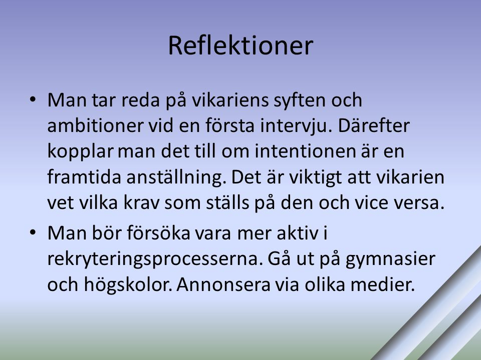 Reflektioner