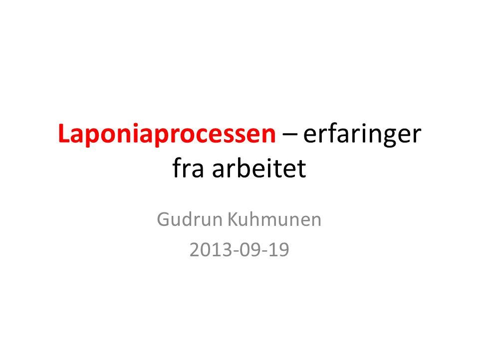 Laponiaprocessen – erfaringer fra arbeitet