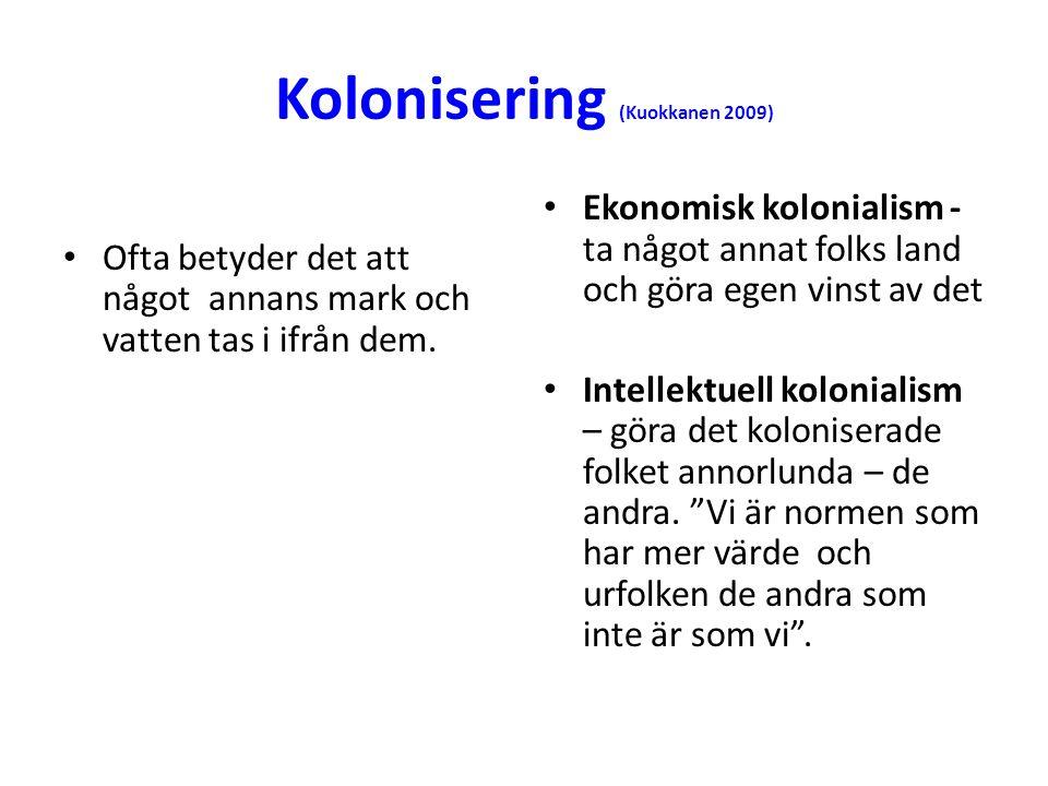 Kolonisering (Kuokkanen 2009)