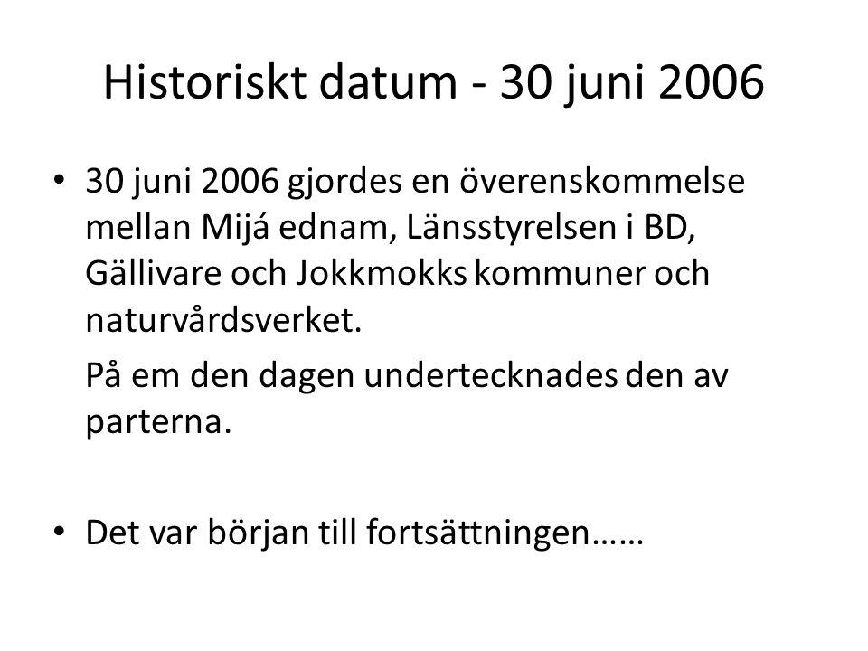 Historiskt datum - 30 juni 2006
